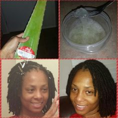 Fresh retwist, I'm giving my hair a break from interlocing. Retwisting my hair with aloe vera gel from the plant. #18monthsloc