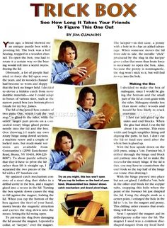 #1444 Trick Box Plans - Other Woodworking Plans and Projects
