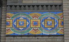 "Lisbon, A Napolitana, tile panel in the main building | António Cota Fevereiro. ""The Art Nouveau tiles as frames to architecture in Lisbon,"" in AzLab#14 Azulejos and Frames. Proceedings. 2 (2016), p. 62-74. URL: http://artison.letras.ulisboa.pt/index.php/ao/article/view/44"