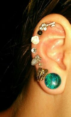 Lots and lots of earings