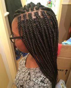 Black and purple box braids / ig: @hanna.hair