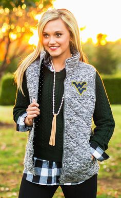 Tennessee Volunteers City Chic Quilted Vest With Polka Dot Lining – Gameday Couture Orange City, Texas Tech Red Raiders, Auburn Tigers, Clemson Tigers, Knit Vest, Quilted Vest, Alabama Crimson Tide, City Chic, Polka Dots