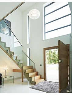 Trendy Ideas For House Entrance Exterior Stairs Staircases Trendy Ideas. Trendy Ideas For House Entrance Exterior Stairs Staircases Trendy Ideas For House Entrance Porch Stairs, Stair Railing Design, Exterior Stairs, House Stairs, Modern Entrance, House Entrance, Entrance Hall, Modern Foyer, Stair Layout
