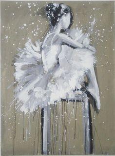 Baletnica obraz olejny Kosakowski sygnowany 80x60