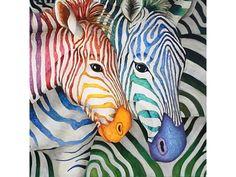 Алмазная вышивка «Зебры», алмазная мозаика, Гранни, картина стразами