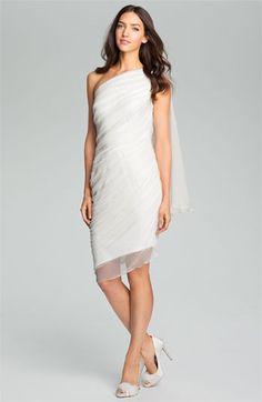 Tadashi Shoji One Shoulder Crinkle Chiffon Dress available at #Nordstrom
