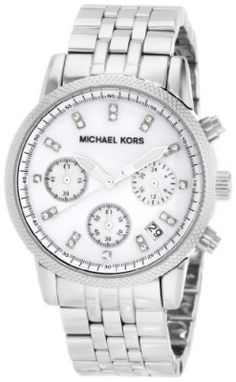be51d95601a Relógio Women s Stainless Steel Case and Bracelet Quartz Chronograph Mother  of Pearl Dial  Relogios