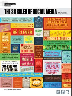 The 36 rules of social media [img taken from Fast...