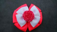 Hot Pink Hairbow Rose Hairbow Pink and by GloriaMillerCreation