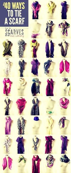 How To Tie A Scarf !                                                                                                                                                                                 More