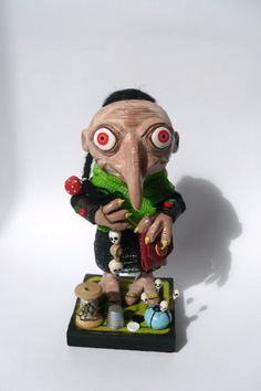 Mixed Media Art Doll  Polymer Clay Sculpture  Goblin by Erinle, $295.00