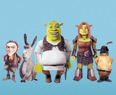 Shrek Forever After 3-D Characters