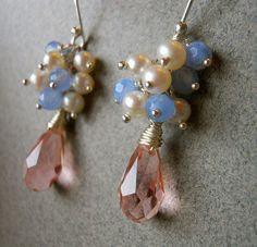 Pink Paradise Cluster Earrings by Sueanne Shirzay on Etsy, $38.00