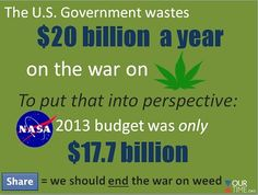 War on marijuana.  How much is this costing America?  Oh look, a lot more than we actually have!