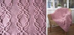 Ravelry: Cable Lap Blanket pattern by Sandra Nesbitt Beanie Knitting Patterns Free, Dishcloth Knitting Patterns, Knitting Charts, Crochet Blanket Patterns, Knitting Designs, Free Knitting, Stitch Patterns, Knit Patterns, Knitting Projects