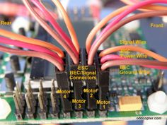 kk wired to receiver rc copters kk2 1 board