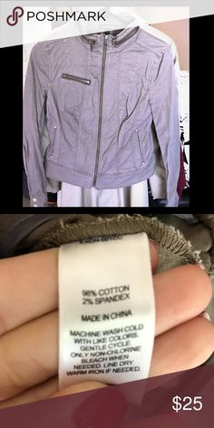 Express Zip Up Light Weight Jacket 0 Light weight zip up jacket from Express. Tan/olive color. Only worn once! Express Jackets & Coats