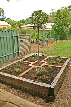 Garden edible on pinterest potager garden raised beds for Veggie patch design