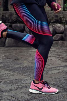 7fb2daf365155 leggings that support your miles. We've introduced compressive support to  high-stretch, neon printed fabric and engineered the Nike Women Power Speed  Tight.