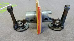 Piston Book Ends from Bent Wrench salvage designs. We take custom orders.