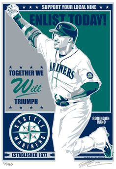 Robinson Cano Seattle Mariners Baseball by SportsPropaganda