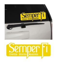 Semper Fi United States Marine Corps USMC Matte Removable Indoor/Outdoor Vinyl Decal Sticker MultiPurpose - For Your Auto, Wall, Window and More!  Purchase this product along with all of our other spectacular decals through one of the following links:   https://www.etsy.com/shop/MiaBellaDesignsWI  http://www.amazon.com/s?marketplaceID=ATVPDKIKX0DER&me=A2MSEOIVL689S1&merchant=A2MSEOIVL689S1&redirect=true