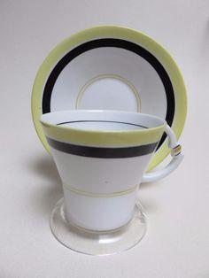 YELLOW BLACK art deco Royal Albert Crown China Tea Cup Saucer  Reg NO 794028 | Pottery & Glass, Pottery & China, China & Dinnerware | eBay!