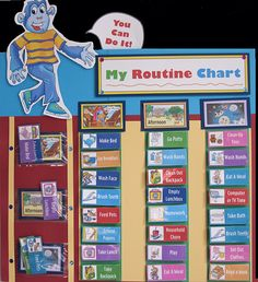Kids Routine Chart & Clean-Up Song