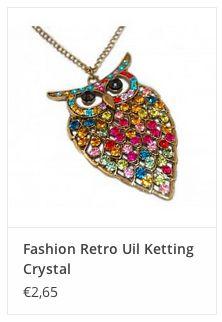Fashion Retro Uil Ketting Crystal € 2,65 www.ovstore.nl/nl/fashion-retro-uil-ketting-crystal.html