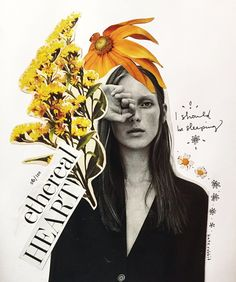 flower collage by kate rabbit - No. flower collage by kate rabbit - No. Mode Collage, Collage Art, Flower Collage, Art Collages, Collage Drawing, Collage Photo, Poster Collage, Poster Layout, Art Drawings