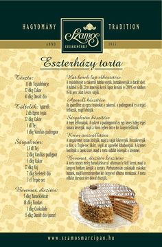 Hungarian Desserts, Hungarian Recipes, Sweet Recipes, Cake Recipes, Dessert Recipes, Torte Cake, Chocolate Cheesecake, No Bake Cake, Food And Drink