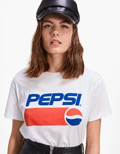 Pepsi Cola Tee - T-shirts Christian Clothing, Christian Shirts, Sporty Outfits, Fall Outfits, Vaporwave Fashion, Summer Fashion For Teens, Cool Graphic Tees, Shirt Refashion, Shirts For Girls