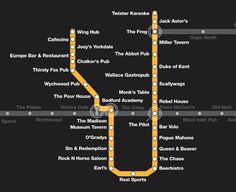ttc subway map - cheap eats in Toronto! Map Of Yorkshire, Jack Astors, What Is Intelligence, Nyc Subway Map, Farm Cafe, Cafe Black, Black Camel, Fish And Chips, Restaurant Bar