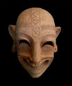 """mysleepykisser-with-feelings-hid: """" Carthaginian mask, Fifth-fourth century BC, terracotta, Bardo National Museum, Tunis. Ancient Aliens, Ancient History, Art History, European History, American History, Carthage, African Masks, African Art, Art Sculpture"""