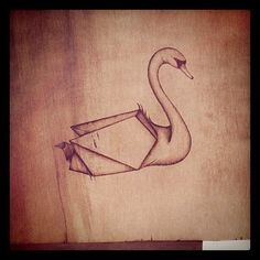 Swan Sketch/Swan Origami
