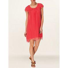 £44 Buy Phase Eight Eloise Silk Frill Dress, Gerbera Online at johnlewis.com