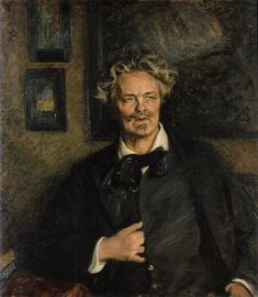 Richard Bergh (Swedish, 1858-1919) : Portrait of August Strindberg, 1905. Bonnier collection of portraits, Nedre Manilla, Stockholm.