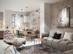 W salonie nie może zabraknąć dodatków w postaci poduch, narzut, dywanu. Razoo Architekci. 10 pięknych aranżacji w stylu skandynawskim http://www.weranda.pl/urzadzamy/jak-to-urzadzic/16048-10-salonow-skandynawskich?cid=4 #weranda #stylskandynawski