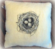 Hand felted Nest cushion