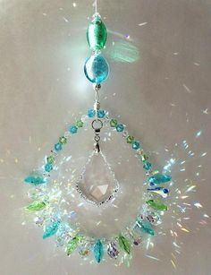 #Ocean Pastels #suncatcher is a beautiful combination of soft Pastels in Green and Blue. #zibbet
