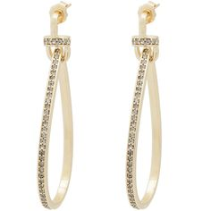 Fallon Convertible Tinsel Earrings Gold/clear D5oHGk6