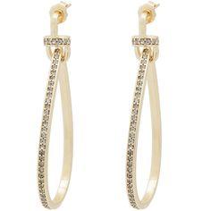 Fallon Convertible Tinsel Earrings Gold/clear LOOpZ7