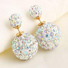 New Trendy 2016 Double Side Rhinestone Stud Earrings 10 Colour for Women Crystal Girl Ear Jewelry Accessories E1437- E1446♦️ SMS - F A S H I O N 💢👉🏿 http://www.sms.hr/products/new-trendy-2016-double-side-rhinestone-stud-earrings-10-colour-for-women-crystal-girl-ear-jewelry-accessories-e1437-e1446/ US $1.08