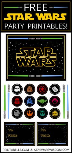 Star Wars Inspired Party Printables - Star Wars Printables - Ideas of Star Wars Printables - Free Star Wars Party Printables and Bolo Star Wars, Tema Star Wars, Star Wars Baby, Party Printables, Invitation Anniversaire Star Wars, Meninas Star Wars, Diy Star, Aniversario Star Wars, Star Wars Classroom