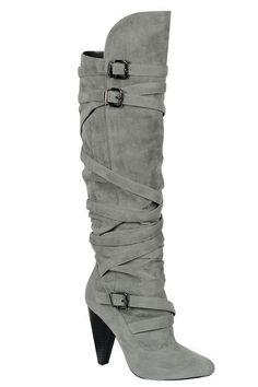 Tall Boot In Gray.
