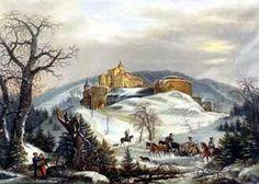 Pernštejn- vstupní panorama (1846) František Richter