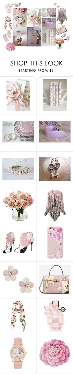 """for romance..."" by vualia ❤ liked on Polyvore featuring Nearly Natural, Alexander McQueen, Casetify, Miss Selfridge, Valentino, Ted Baker, Viktor & Rolf, Ballard Designs, Jimmy Choo and Pink"