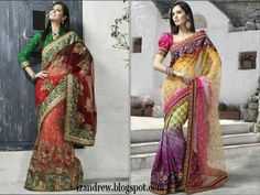 Bridal Sarees 2012  Silk SareesSaris  Indian Designer Saree Blouse Styles-izandrew.blogspot.com (4) - date si poze despre SAREE-URI indiene