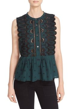 Sea Embroidered Sleeveless Top available at #Nordstrom