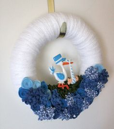 Baby Boy Wreath... Love this idea!!! Want to make it for me??? ;)